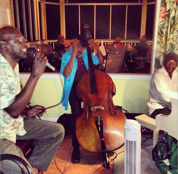 Louis Taylor Trio at North Side Birsto Restaurant, North Side, St. Thomas USVI
